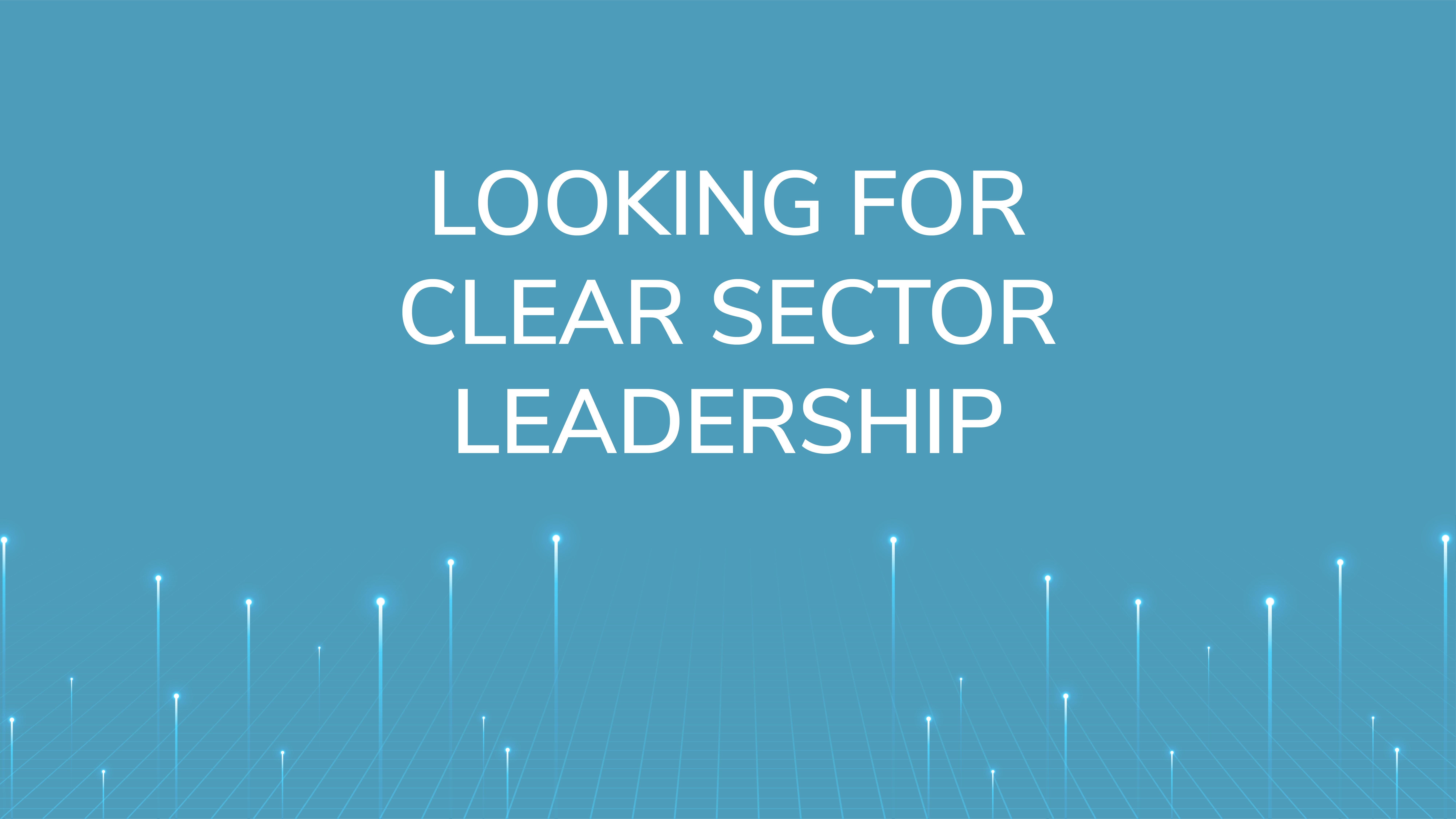 Looking for Clear  Sector Leadership