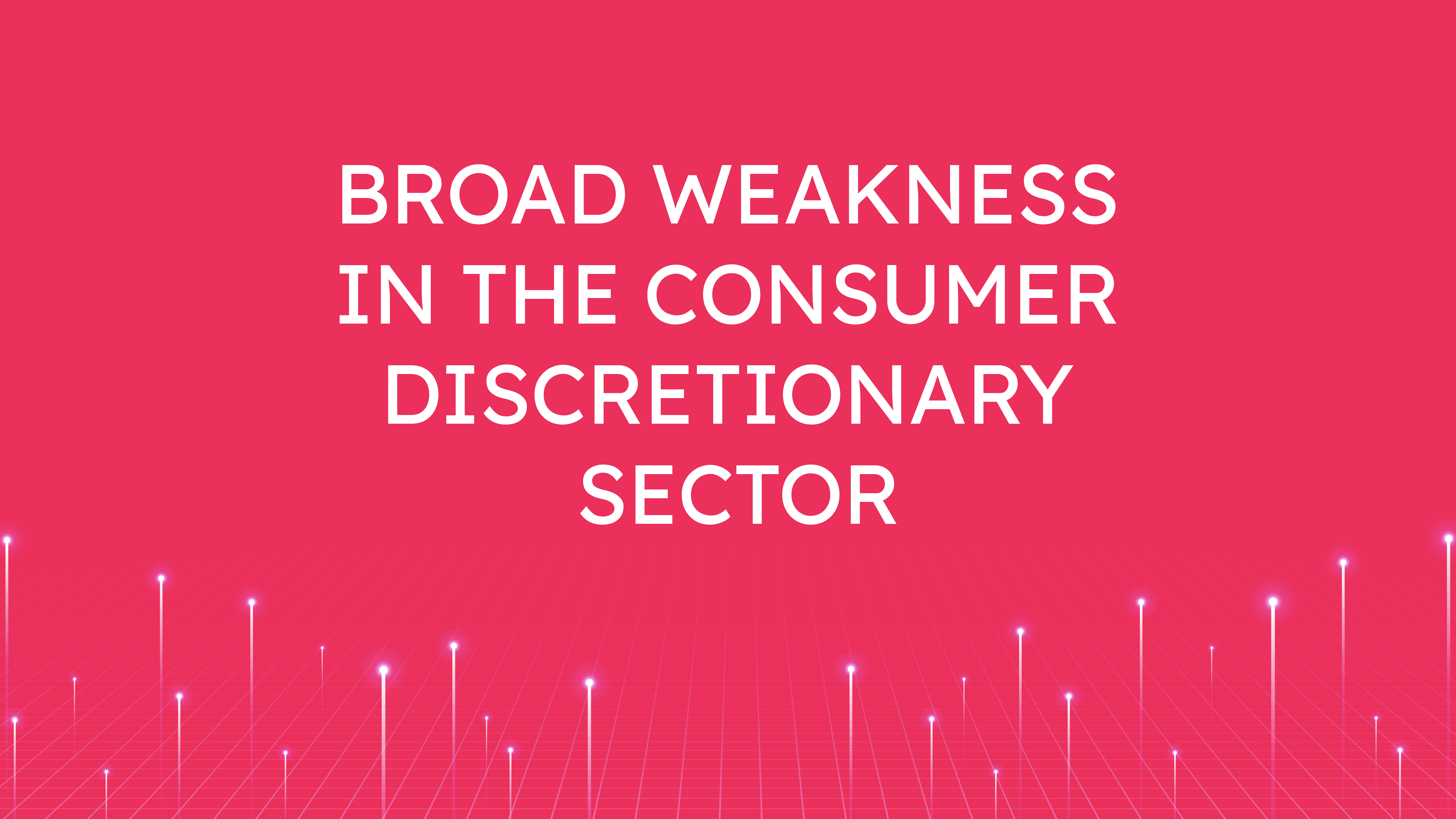 Broad Weakness  in the Consumer Discretionary Sector