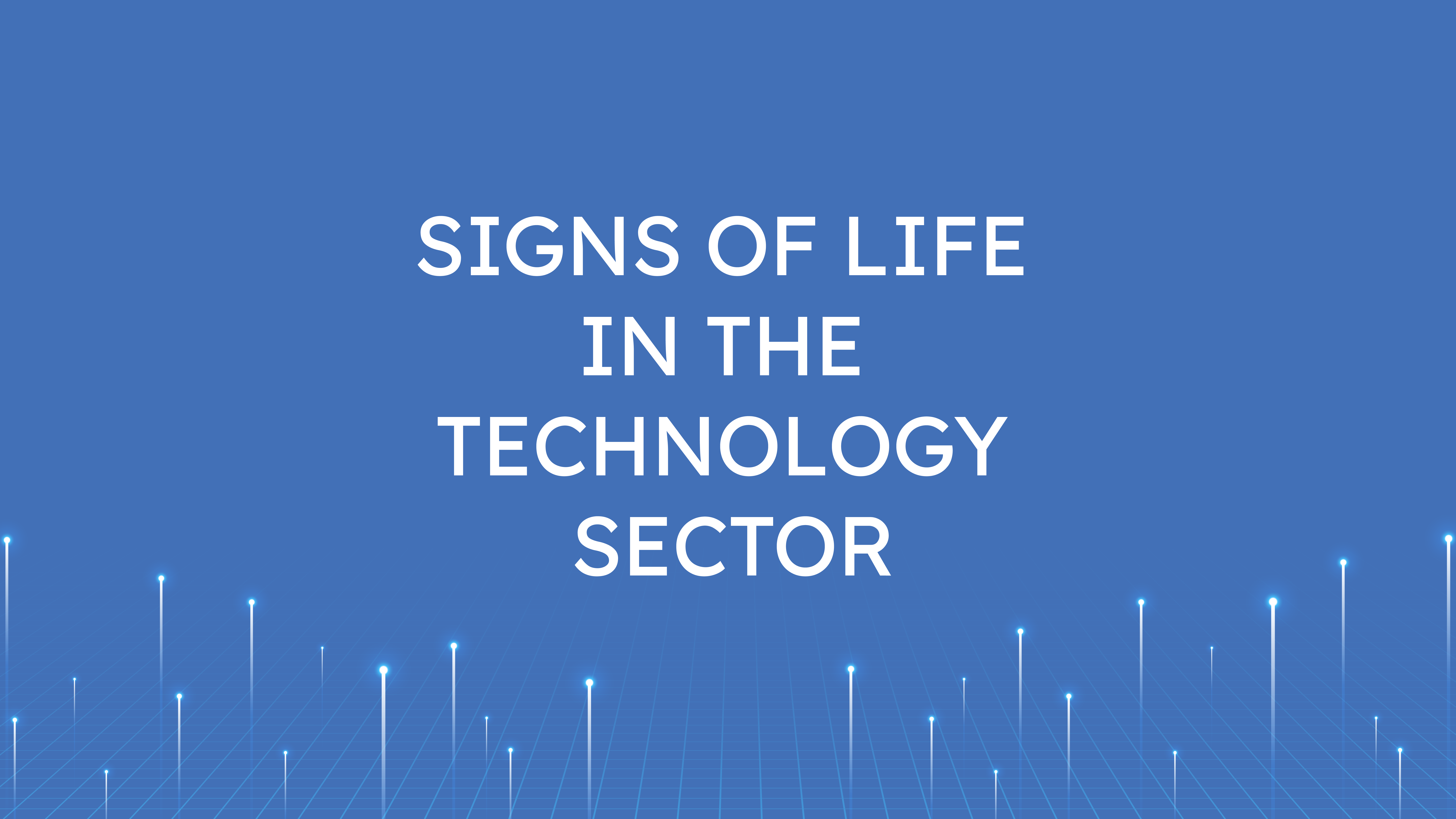 Signs of Life  in the Technology Sector