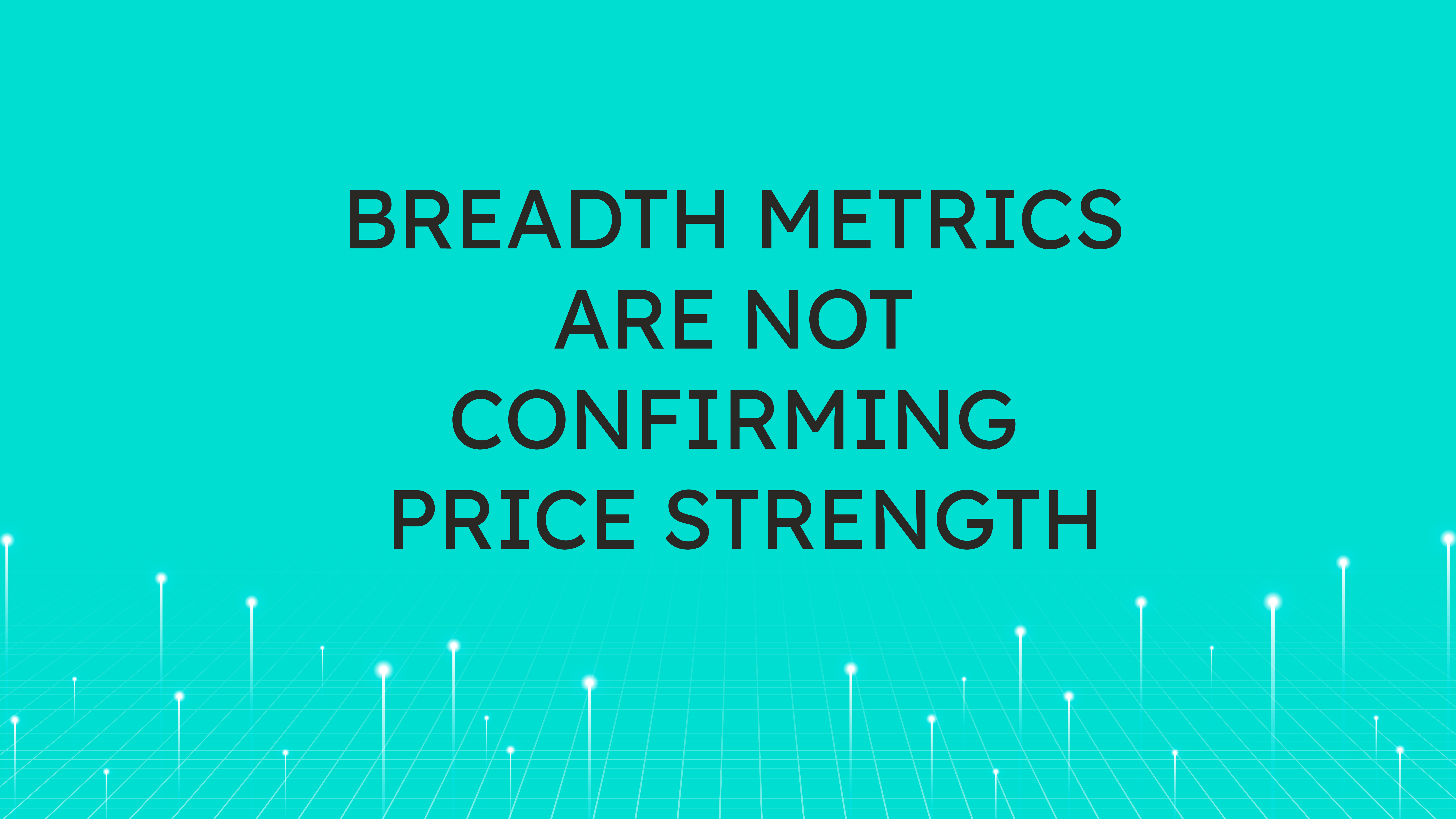 Breadth Metrics  are Not Confirming Price Strength