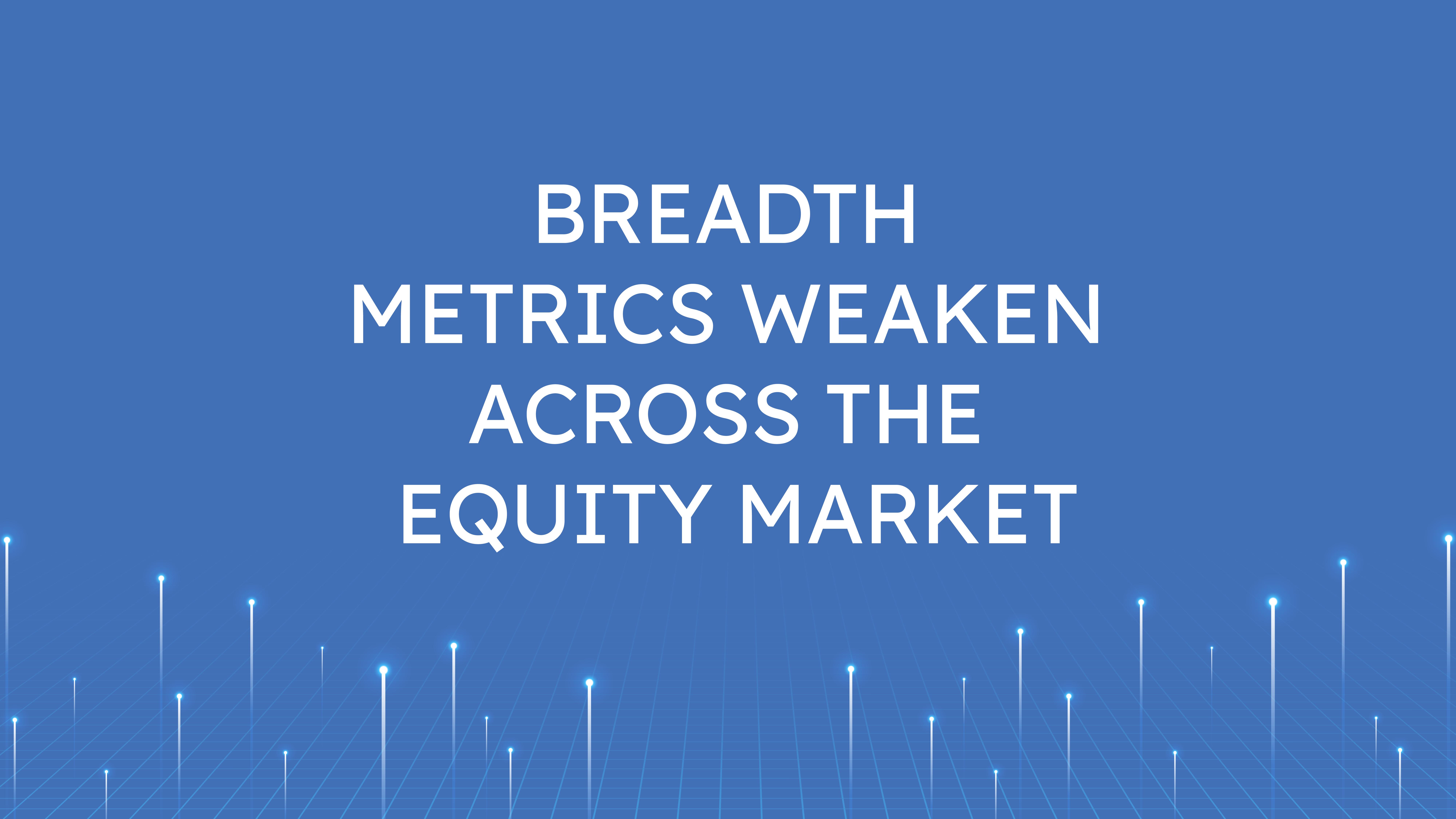 Breadth Metrics Weaken  Across the Equity Market