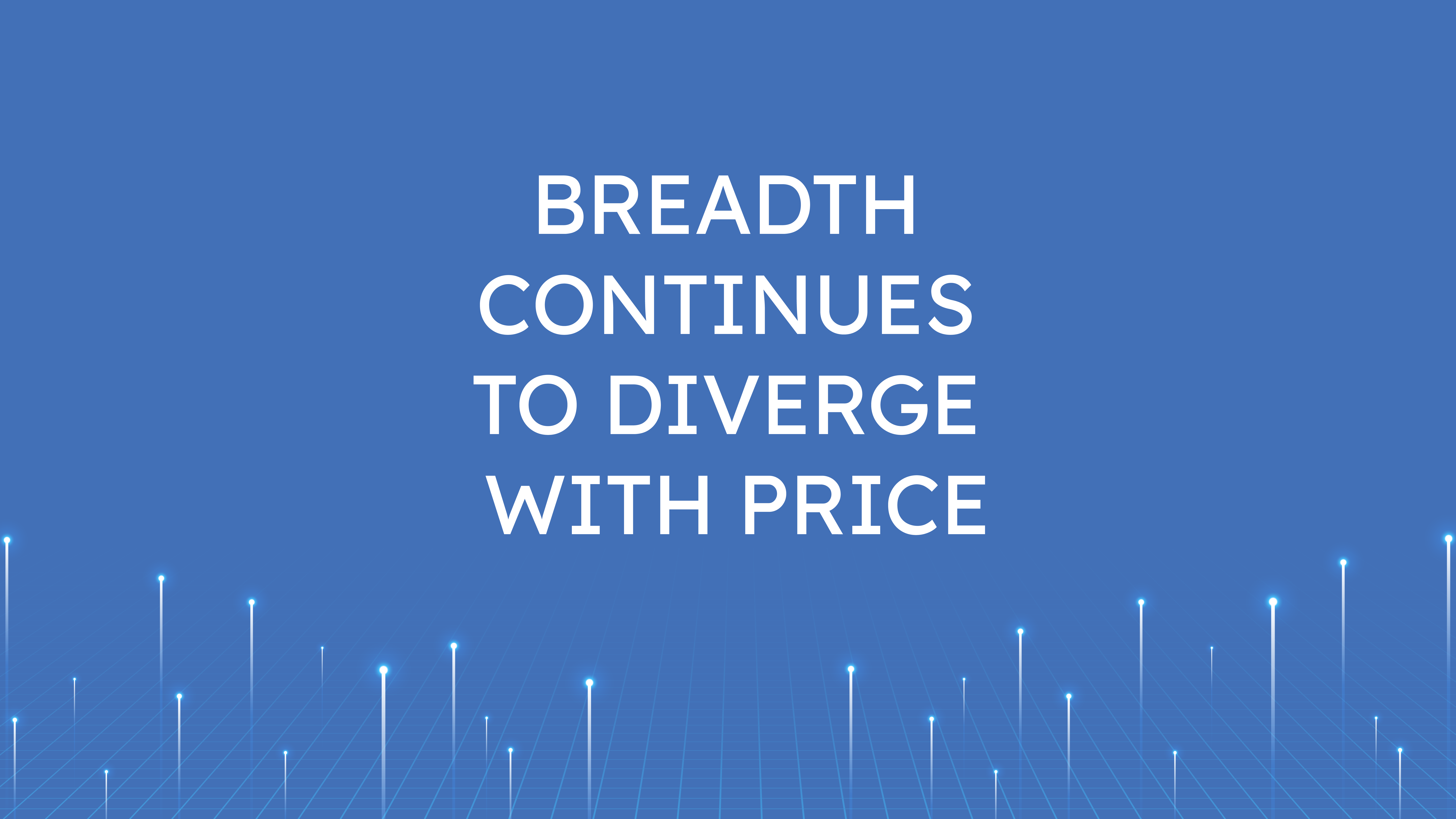 Breadth Continues  to Diverge with Price