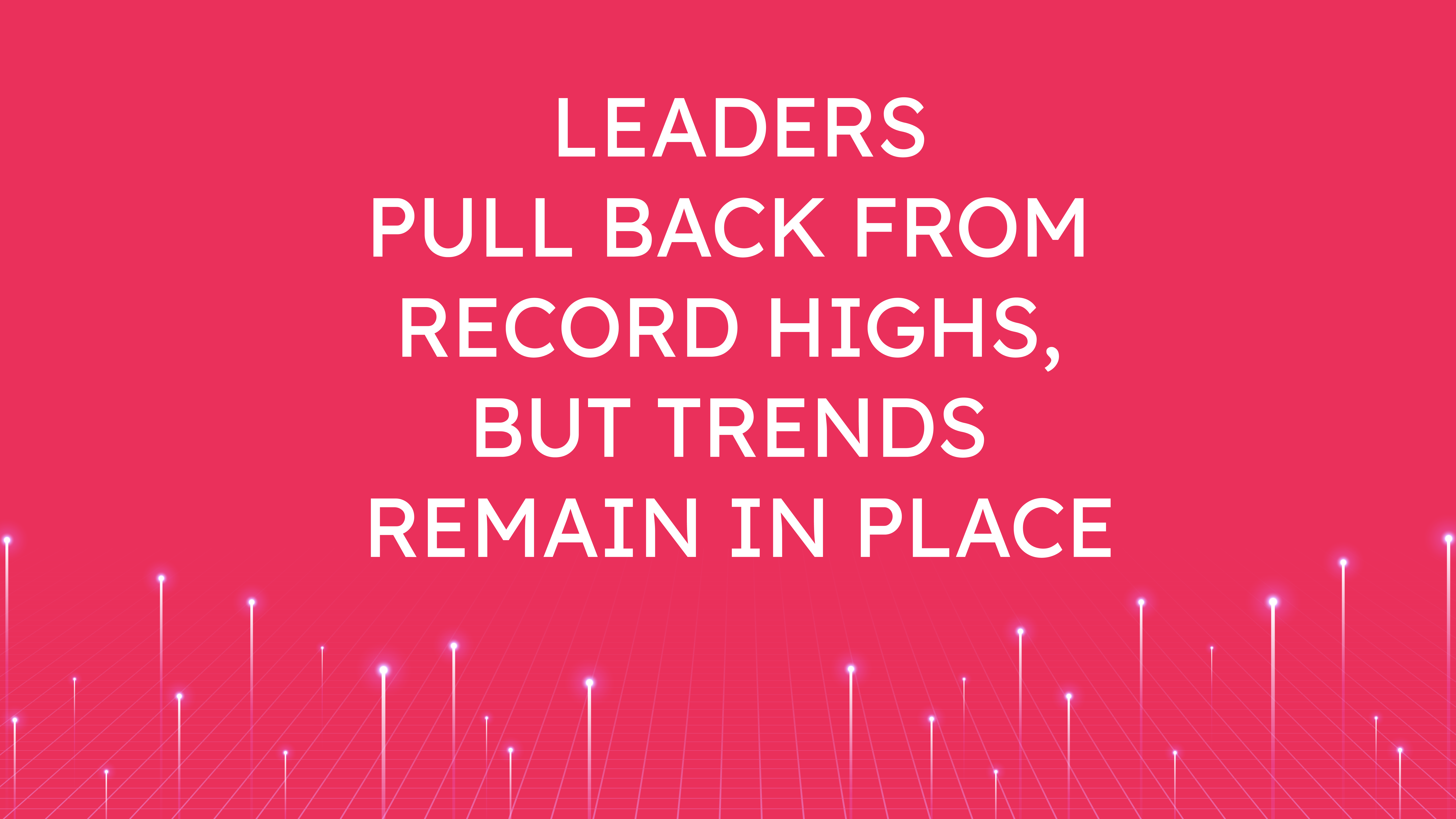 Leaders Pull Back from Record Highs,  but Trends Remain in Place